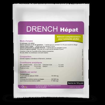 Drench Hépat indiqué pour stimuler le fonctionnement hépatique de la vache.
