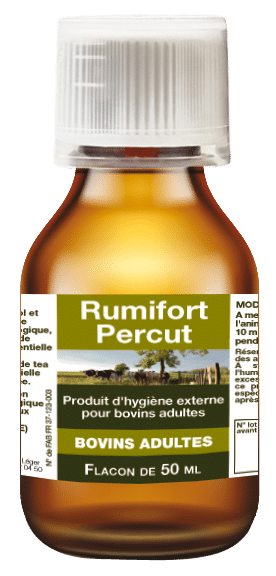 Rumifort Percut huiles essentielles pour vaches pour le déséquilibre digestif