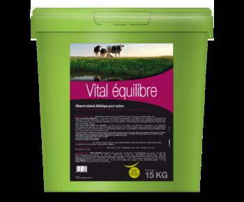 Vital Équilibre aliment complémentaire utilisé lors de besoins d'apports complémentaires en oligo-éléments et vitamines en fin de gestation des vaches