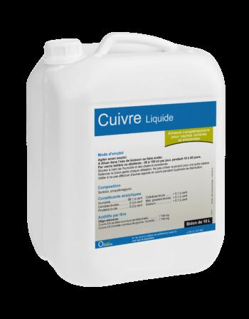 Oligo-élément pour vaches, Cuivre liquide pour lutter contre les interactions négatives