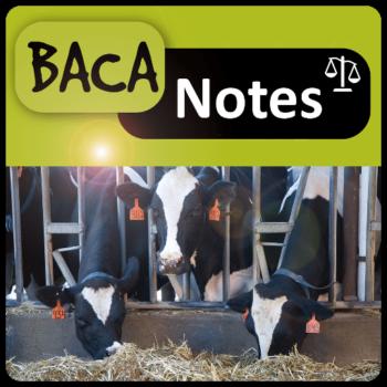 Baca Notes, application permet à la fois d'avoir des éléments de démonstration et d'explication de la BACA et de calculer la BACA des rations des animaux.