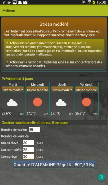 Gestion du stress thermique